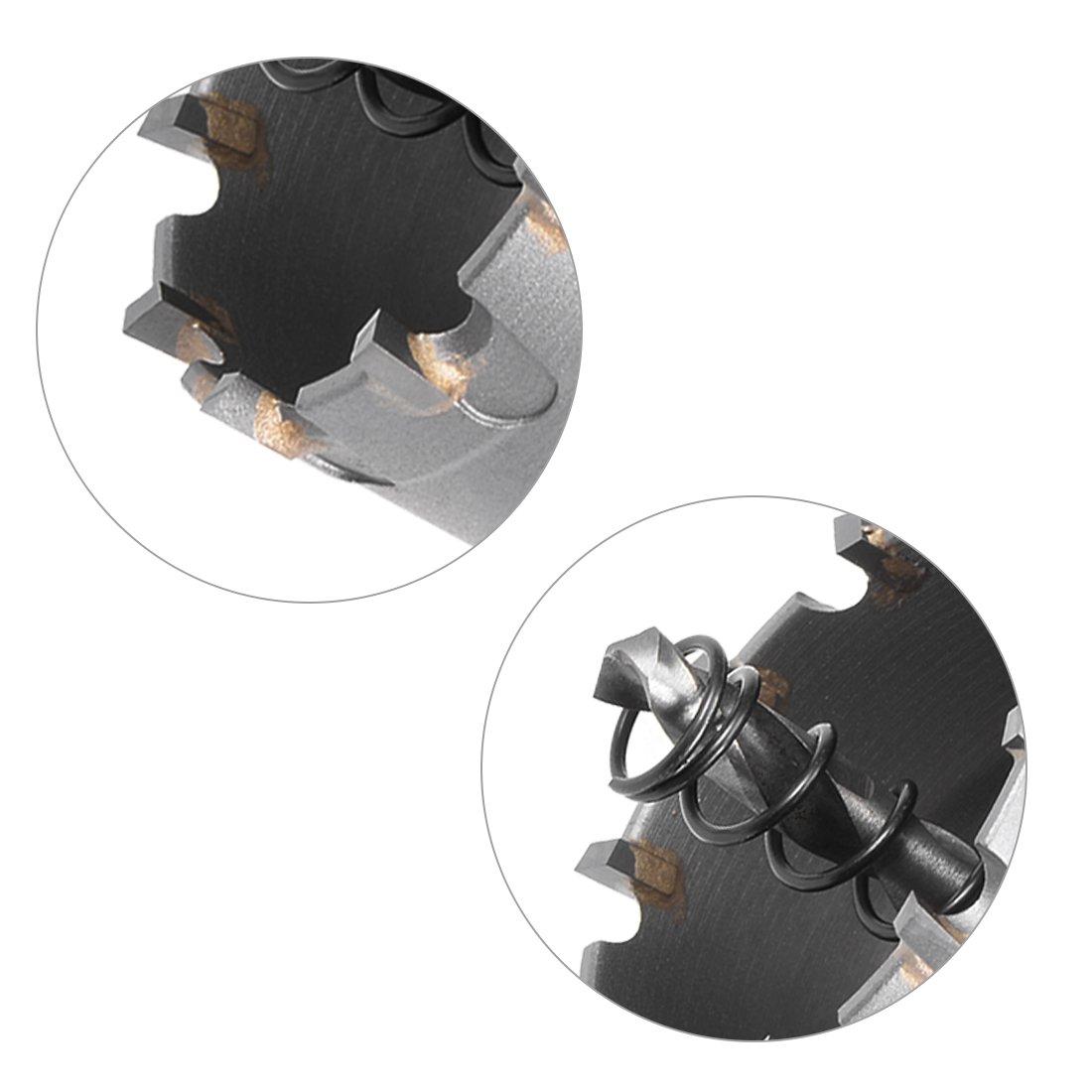 sourcing map taladro metal de Taladro Cortador de Agujeros de Carburo para aleaci/ón de acero inoxidable de 70mm