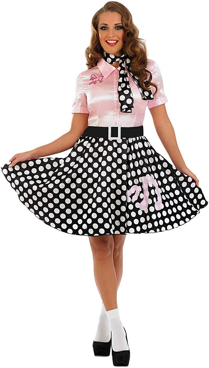 Fun Shack Rosado Vestido Rock N Roll Disfraz para Mujeres - S ...