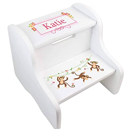 Phenomenal Amazon Com Mybambino Personalized Monkey Girl Toddler Ibusinesslaw Wood Chair Design Ideas Ibusinesslaworg