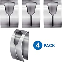 Tatkraft Ida Strong Adhesive Towel Rack (Value Pack 4 Pcs) Up to 5 kg Stainless Steel