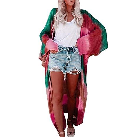 Amazon.com: F_topbu - Kimono para mujer con estampado de ...