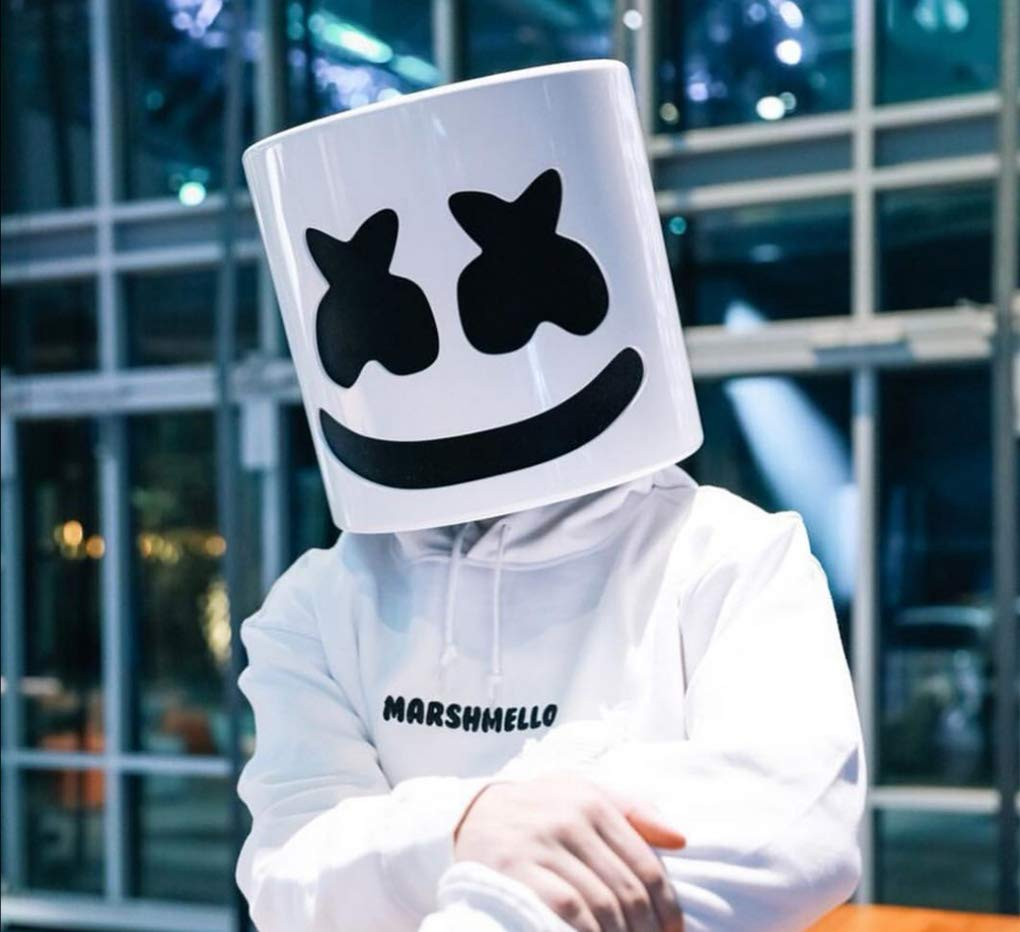 GAOLEI1 Marshmallow Casco Máscara Material de Goma DJ Music ...