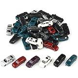 情景コレクション・自動車模型・ミニカー・モデルカー 1/150用 50台セット ランダム カラフル 情景コレクションザ・都市模型・ジオラマ・建築模型・教育・写真に