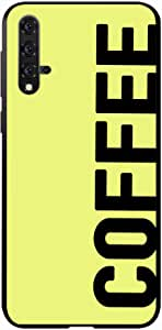 Okteq Case Cover for Huawei Nova 5T Shock Absorbing PC TPU Full Body Drop Protection Cover matte printed - coffee yellow By Okteq