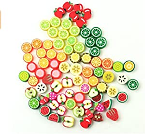 Diy Bracelet Beaded Crafts Jewelry Accessories Beads Beads 10mm Mixed Fruit Color Pony Beads Handmade Jewelry Beads 100pcs
