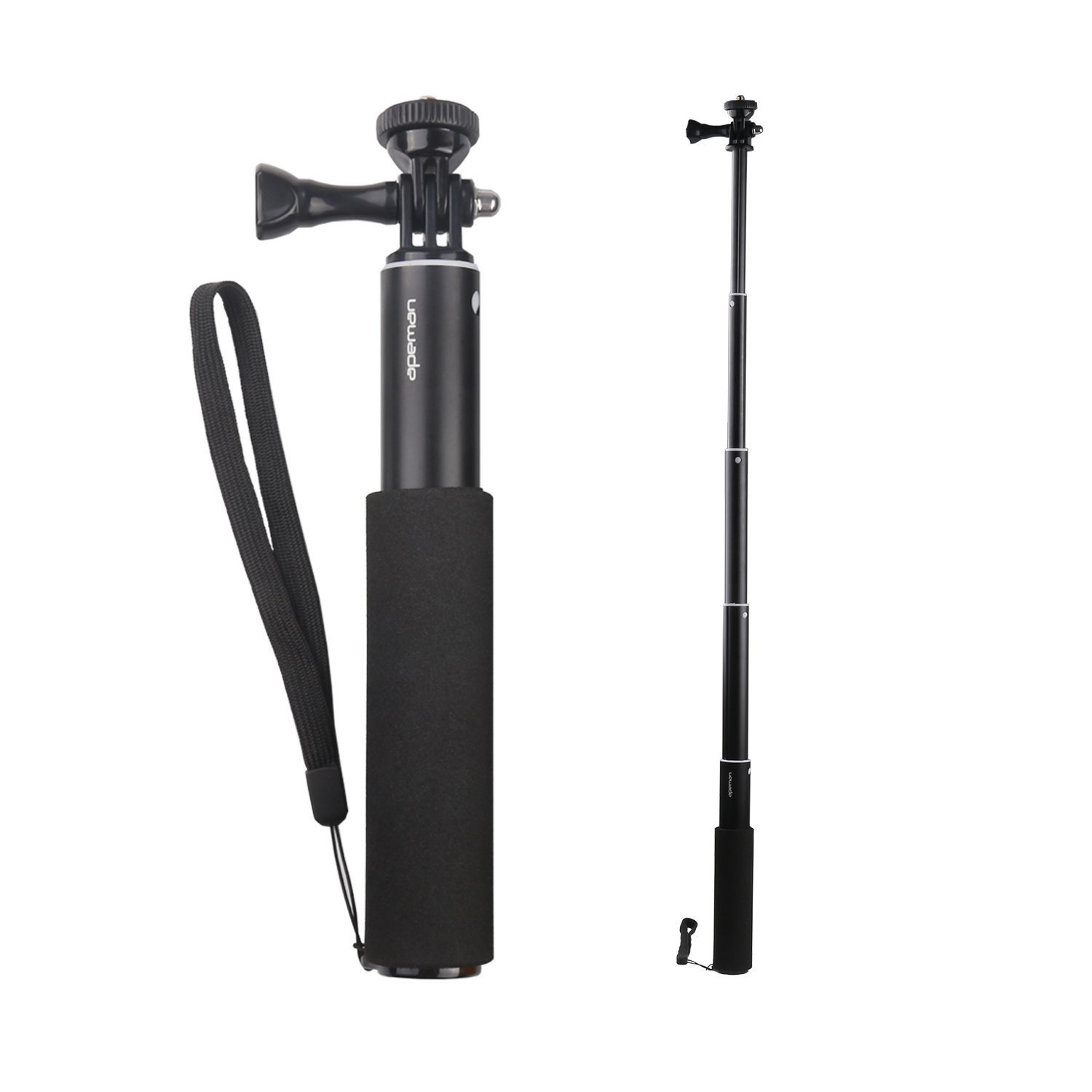 Apeman Selfie Stick Self-portrait Extendable Aluminum Monopod Holder Perfectly Compatiable with action cameras, smartphones, waterproof cases