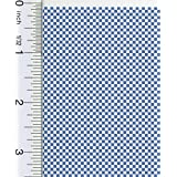 Dollhouse 1:24 Scale Blue Check Floor Paper by Dollhouse Flooring