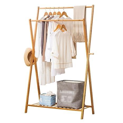 Amazon.com: XIA - Perchero de bambú para ropa, tamaño: 155 x ...