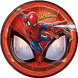 Unique Spiderman Paper Party Plates, 8Ct