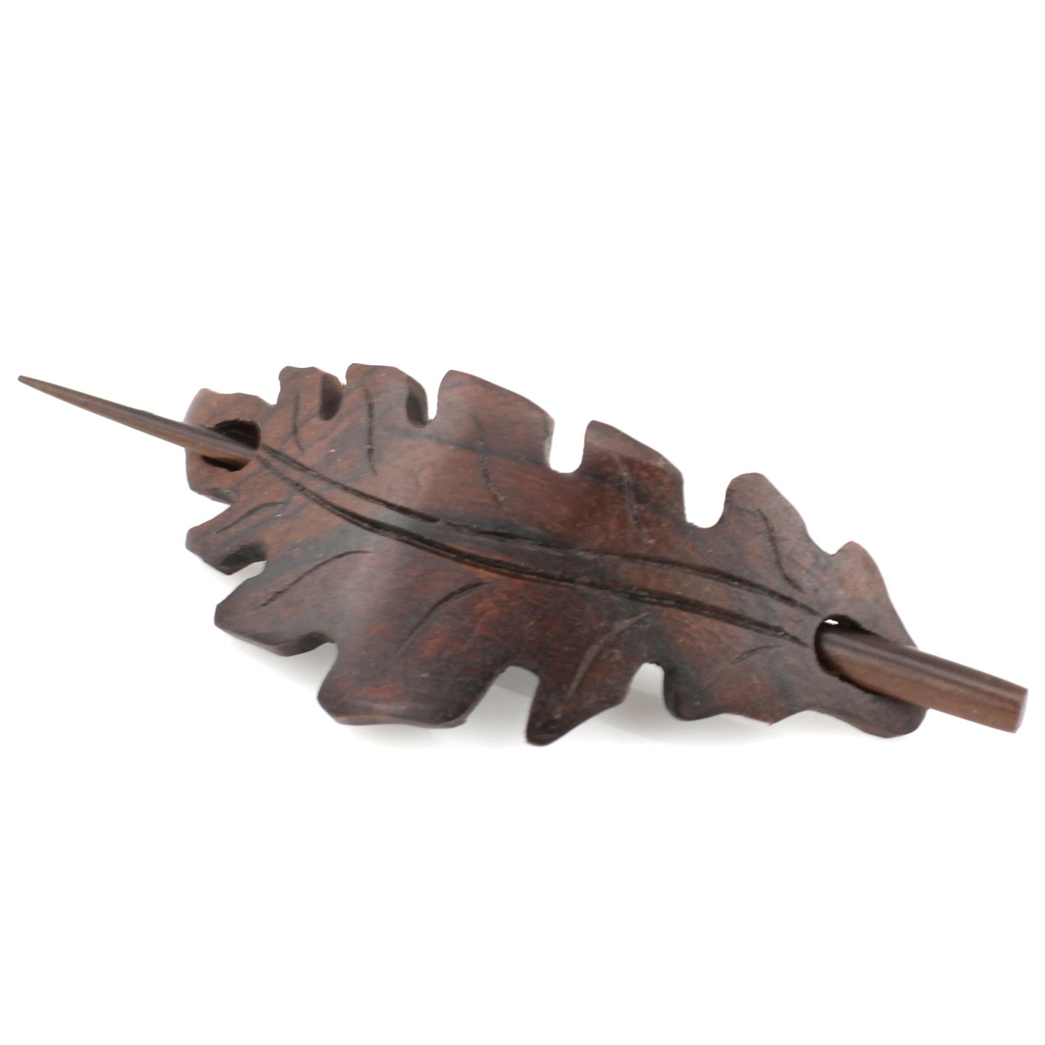 Evolatree - Hand Carved Sono Wood Celtic Bow Tie Hair Pin Barrette - 4