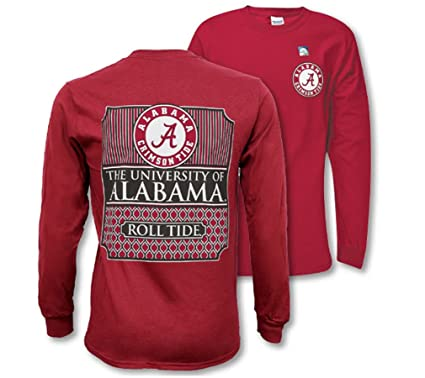 c40f00f9 Southern Couture SC Collegiate Preppy Alabama Crimson Tide on Long Sleeve  Womens Classic Fit T-