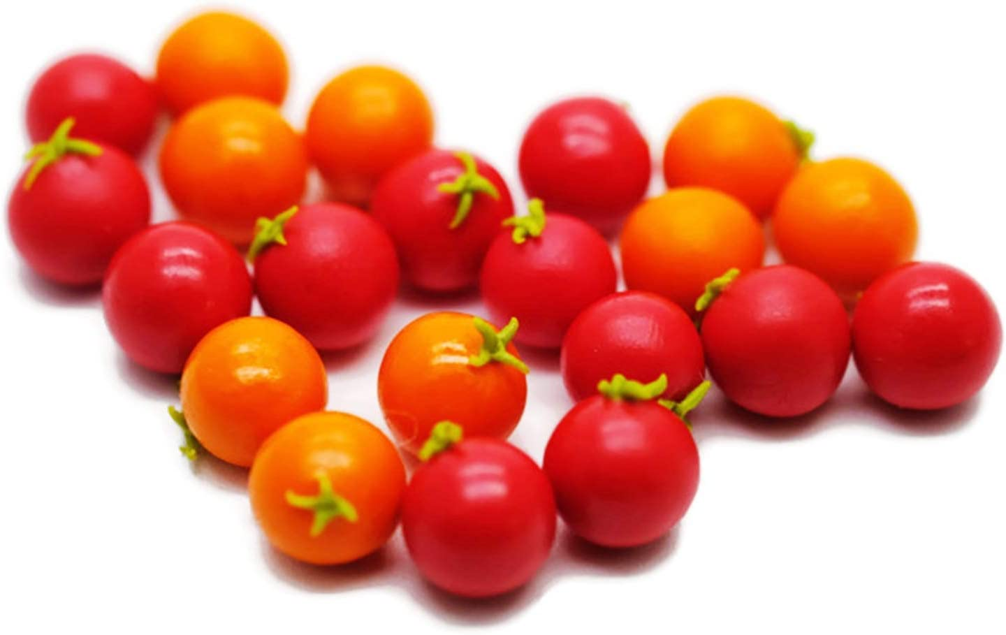 30 Psc Mix Red and Orange Tomato Dollhouse Miniatures Food Kitchen by Cool Price