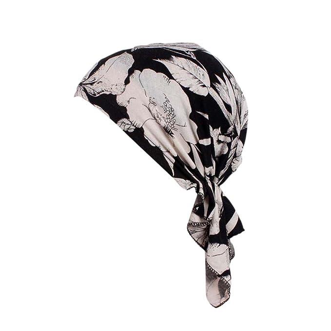 TEBAISE Turban Damen, Kopfbedeckung Turban Sommer Winnter Hut Chemo ...