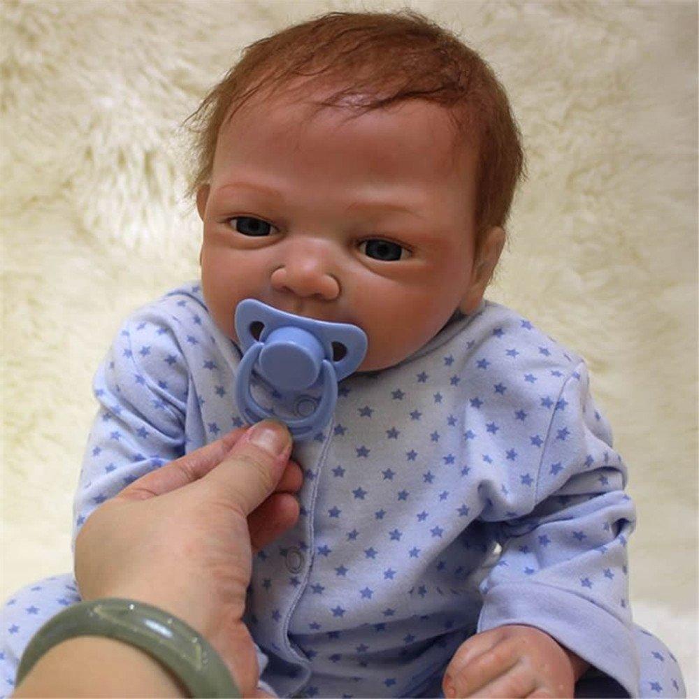 Amazon.es: Suave silicona de 18 pulgadas Baby Doll bebés Reborn realistas Boy Toy con muñecas artesanales arraigadas Mohair Kids Cumpleaños Regalo de ...