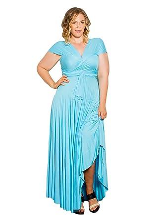 SWAK Designs Womens Plus Size Sleeveless Maxi Eternity Maxi Convertible  Dress