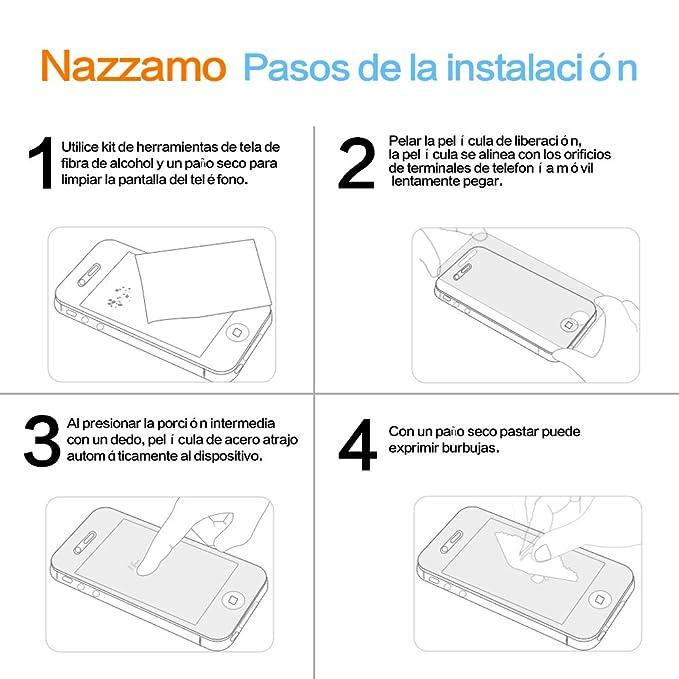 [2-Pack] Xiaomi Mi 5 Cristal Templado Protector de Pantalla, Nazzamo Xiaomi Mi 5 Templado Vidrio Protector de Pantalla [9H Dureza] [Ultra-trasparente] ...