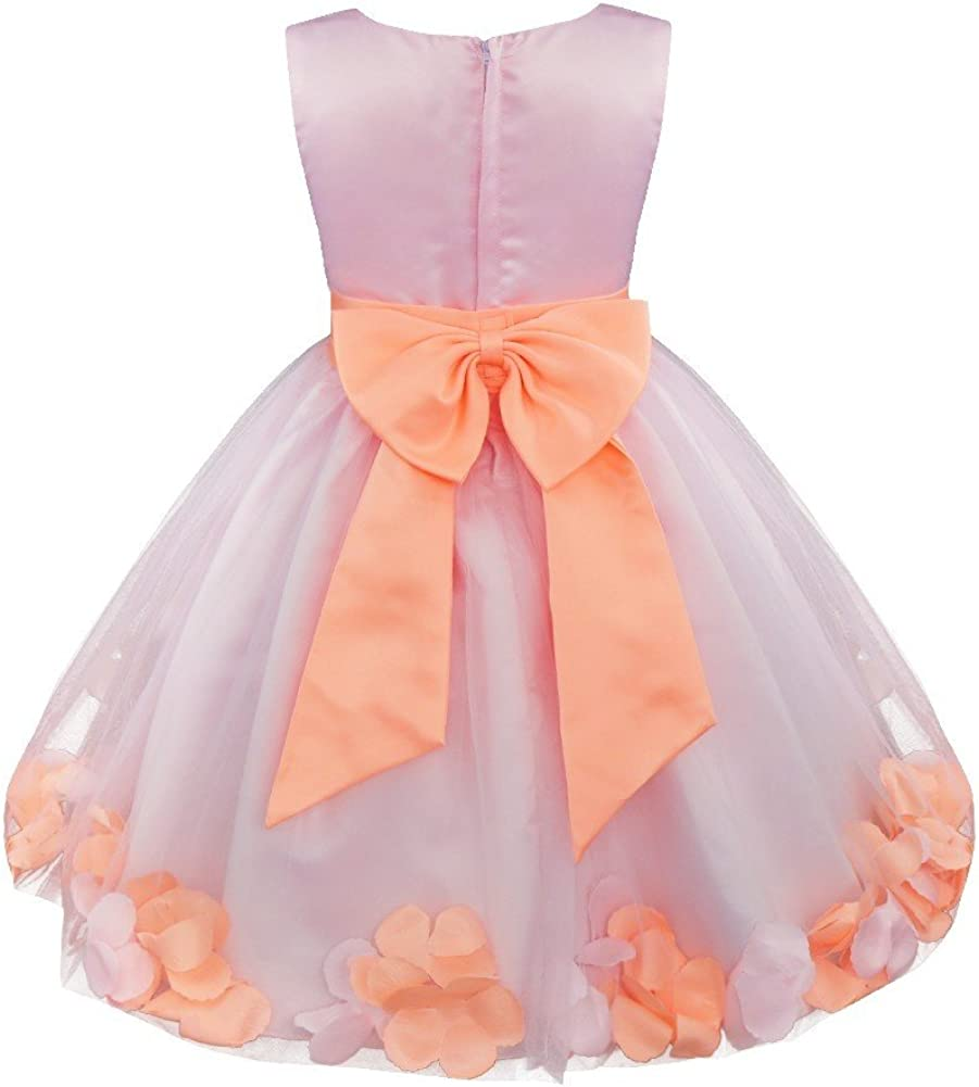 Baby kid girl wedding dresses party tutu princess dress flower formal bridesmaid