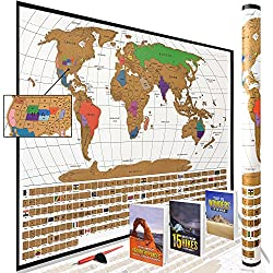Scratch Off World Map Poster with All US States Outlined || MEGA Prime Week Sale & Bundle!! || Large + Detailed Cartography - Turn Your Adventures Into Premium Art! by WTI