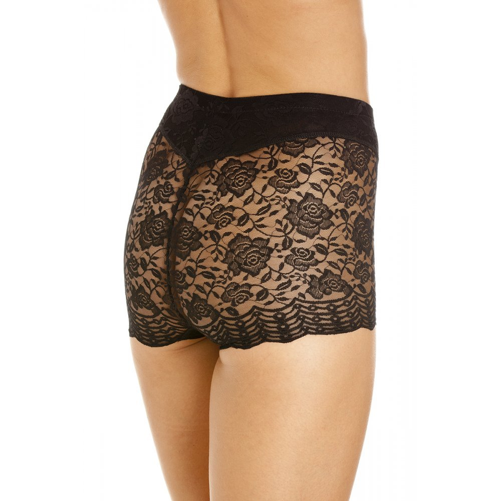 74ea2cd2cbf35 Camille Womens Black Floral Lace Control Shapewear Support Briefs  Camille   Amazon.co.uk  Clothing