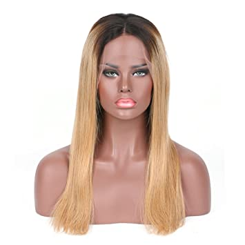 6bc3daa7 Miss diva Ombre Lace Front Wig Human Hair Body Wave Blonde Lace Wigs For  Black Women
