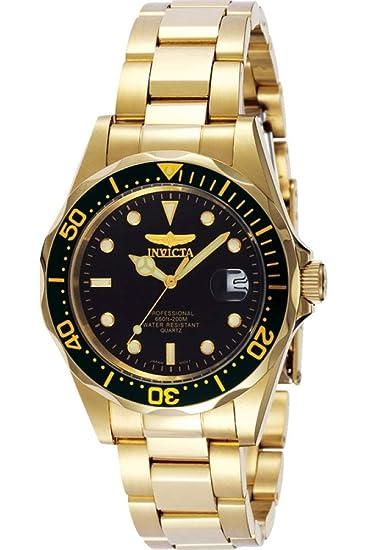 8936 Esfera Pro Acero Negro Diver Inoxidable Invicta Cuarzo Reloj Unisex lF3JTK1c