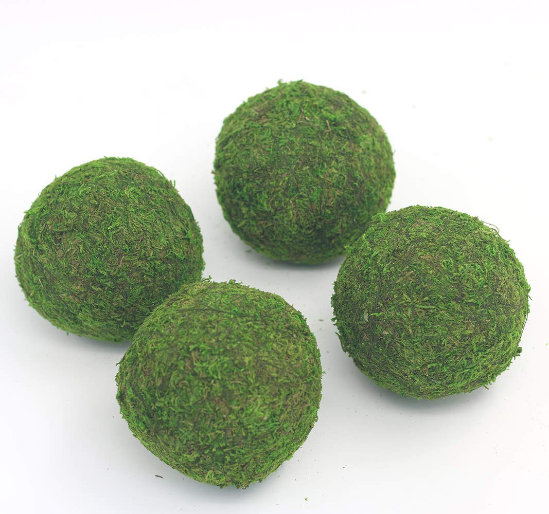 Nice purchase Handmade Natural Green Plant Moss Balls Decorative for Home Party Display Decor Props (4 in) by Nice purchase