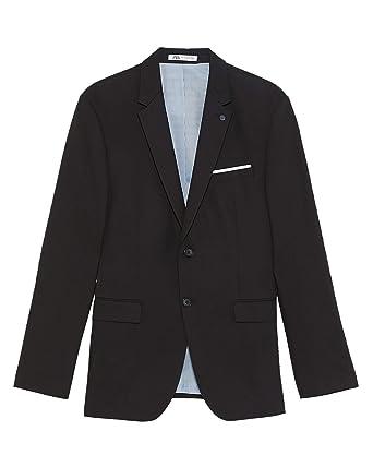 542f01e5 Zara Men Tailored Comfort Suit Blazer 1564/310 Black at Amazon Men's ...