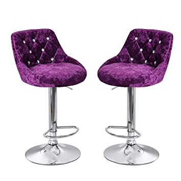 Outstanding Amazon Com Clearance Sale 2Pcs Home Bar Stools Velvet Pabps2019 Chair Design Images Pabps2019Com