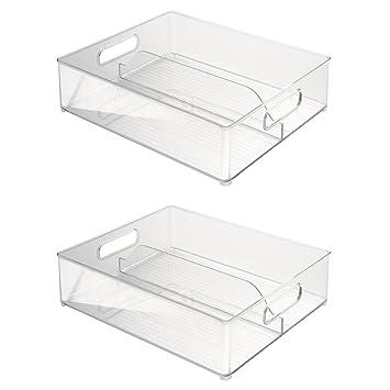 Interdesign 2 Pack Fridge And Freeze Binz Deep Split Bin 12 By 4 Inch Amazon In Home Kitchen