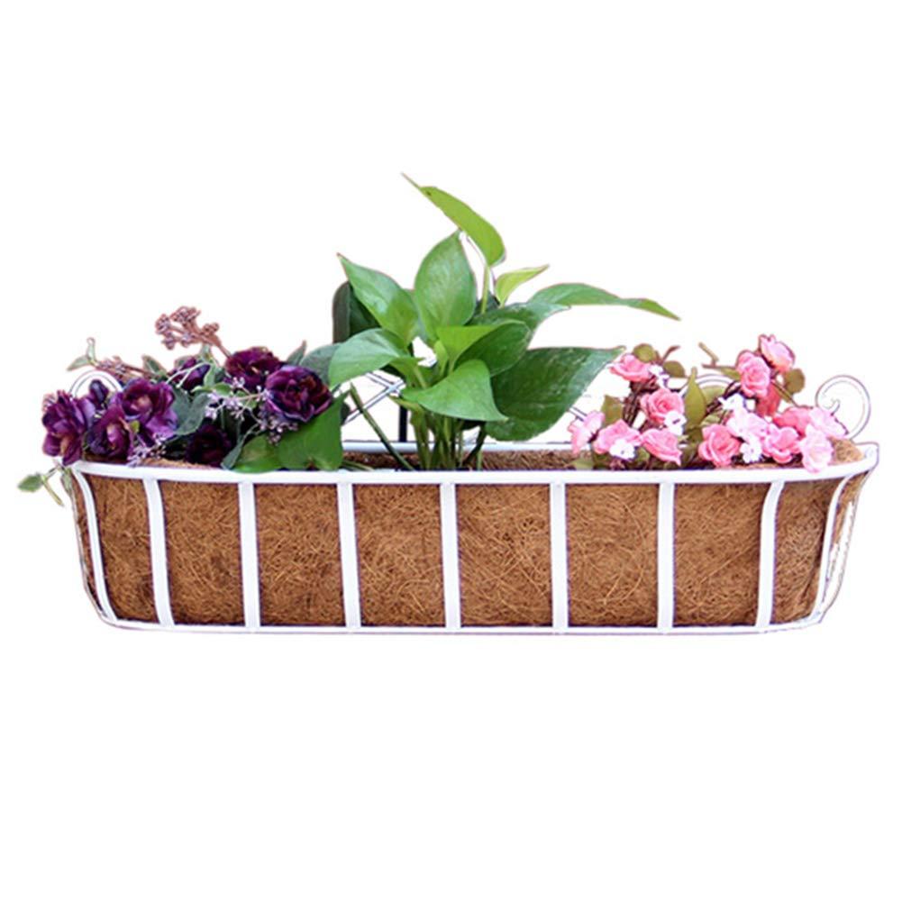 LIQICAI Supporto per vasi da Fiori per Giardiniere con Supporto per vasi da Giardino per Interni e Esterni con Tappetino in Vaso, 3 Colorei, 3 Formati (colore   Bianca, Dimensioni   50x18x29cm)