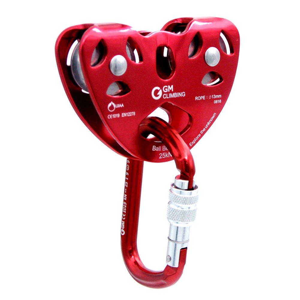 amazon com gm climbing uiaa certified zipline pulley kit speed