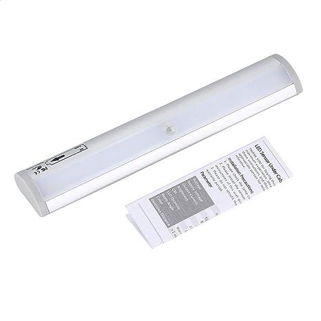 Batería 10 LED armario luz Auto PIR armario armario armario sensor de movimiento lámpara fácil instalación