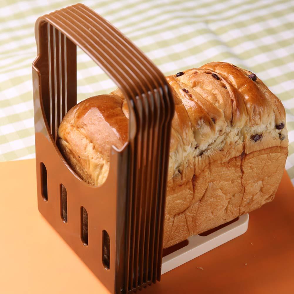 Rebanadora de pan tostado, Plegable Ajustable Máquina de cortar del pan, Corte rápido, Uniformidad de espesor, Cortador de máquina de cortar del pan, ...
