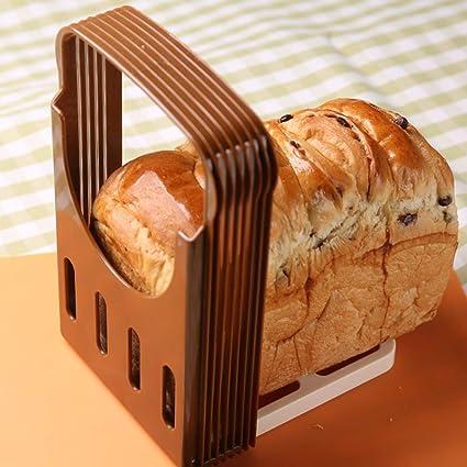 Rebanadora de pan tostado, Plegable Ajustable Máquina de cortar del pan, Corte rápido,