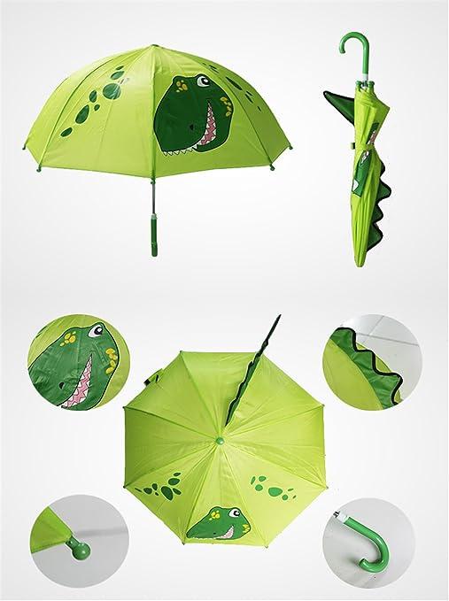 Paraguas de dibujos animados lindo para los niños Pequeño dinosaurio