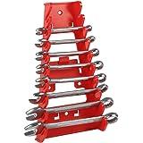 Supporto titolare per chiave inglese Organizzatore Portautensili per rack a 9 pezzi Strumento per l'immagazzinamento di utensili a mano da appendere alla parete o a una piastra perforata