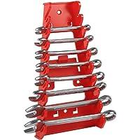 Organizador de llaves Soporte para llaves Organizador de rejilla de plástico rojo de 9 ranuras para llaves