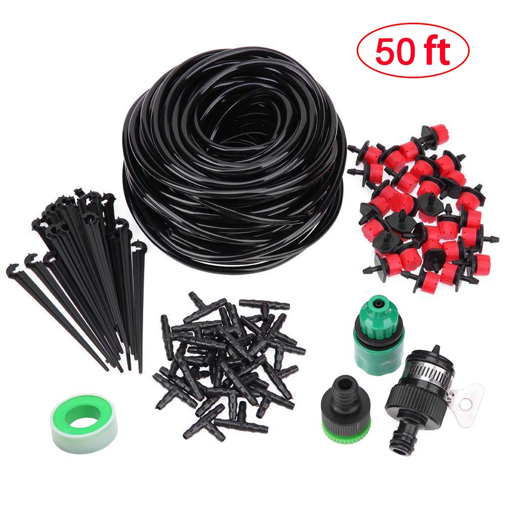 Fits 1//4 Drip Tubing 1//4 Universal Barbed Tee Fittings 100pcs Kalolary Barbed Connectors Drip Irrigation 4//7mm Tee Pipe