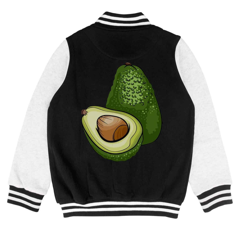 epoyseretrtgty Autumn Kids Girls Cotton Green Avocado Fruit Personality Baseball Jacket Sweater Coat