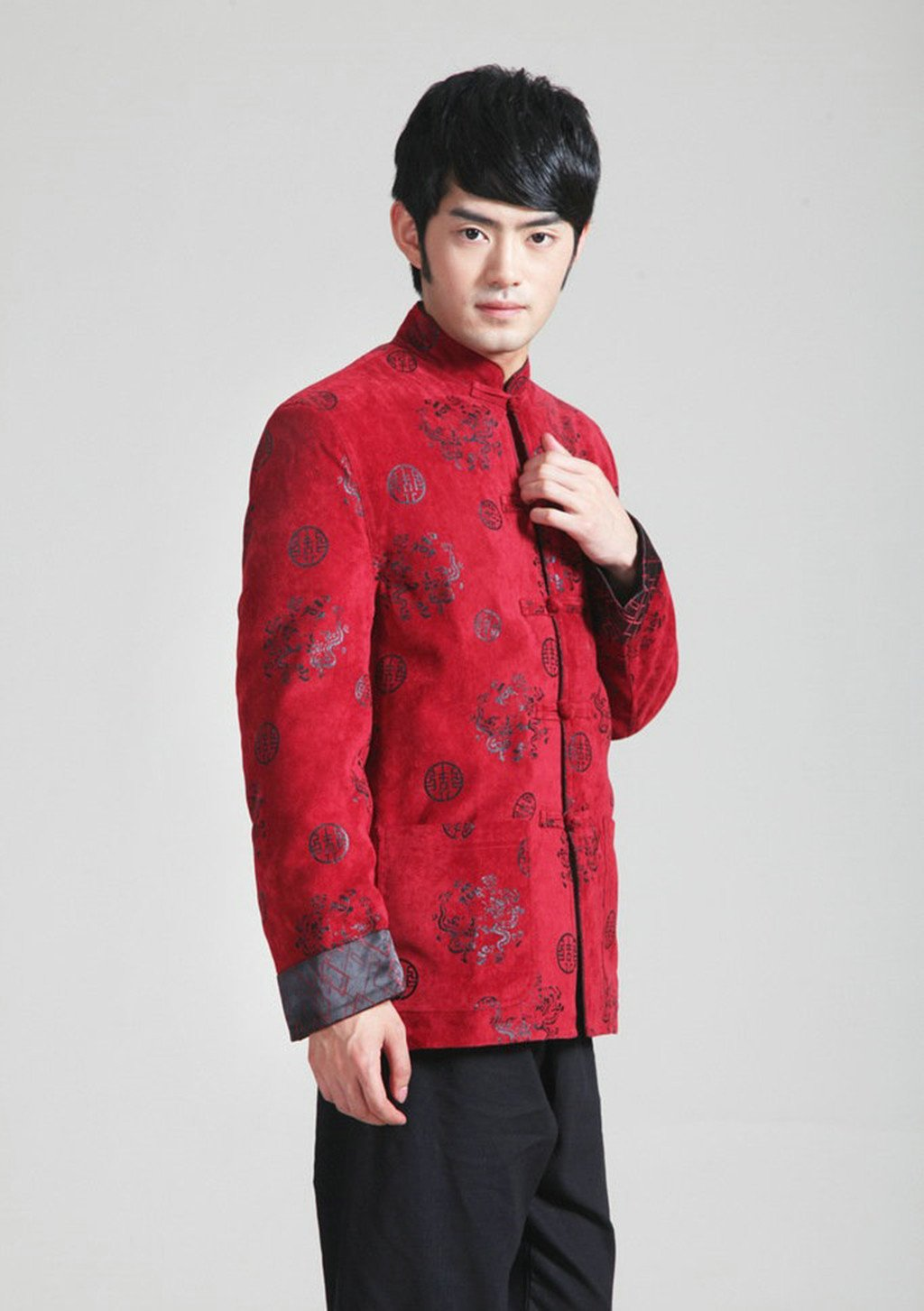 Wool Tang Suits Retro Jackets cotton-padded jacket Business Jackets Full Dress by Winter Tang Suit (Image #3)