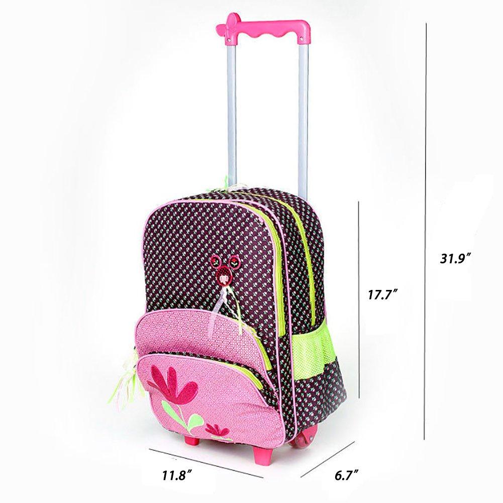 Amazon.com   Meetbelify Rolling Backpacks School Bags Trolley Lunch Bag  Pencil Case 3PCS Yellow   Kids  Backpacks b876c71ffc