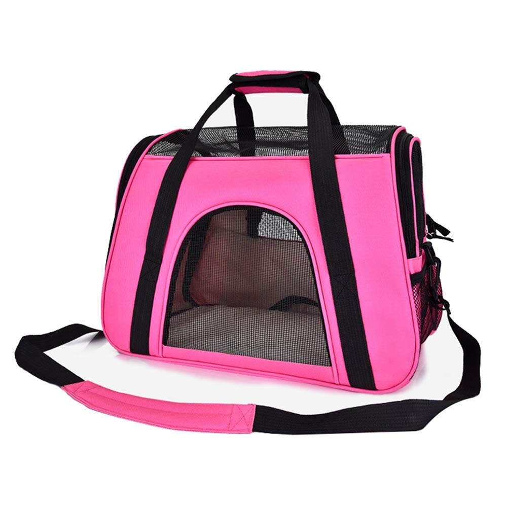 Pink NIANXINAN Pet Carrier Lightweight Travel Seat For Dogs, Cats, Puppies Made Of Waterproof Nylon