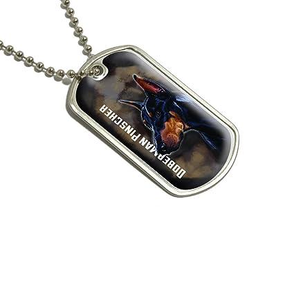 Doberman Pinscher negro en marrón - perro mascota Militar ...