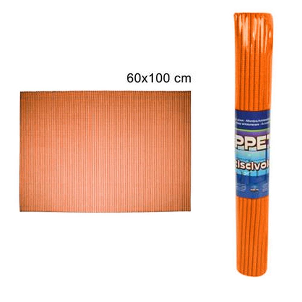 Vetrineinrete® Tappeto antiscivolo 60x100 cm in spugna sintetica tappetino assorbente per bagno e cucina scendi doccia arancione B22