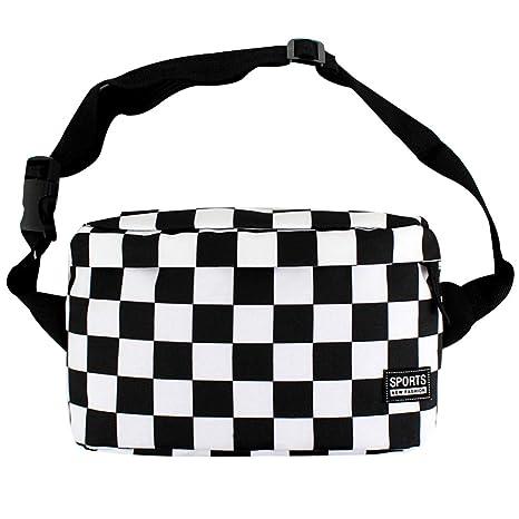 39fa8986153 LABANCA Fashion Fanny Pack Checkerboard Printed Rave Bag Beach Bum ...