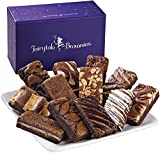 Fairytale Brownies Sprite Dozen Gourmet Food Gift Basket Chocolate Box - 3 Inch x 1.5 Inch Snack-Size Brownies - 12 Pieces