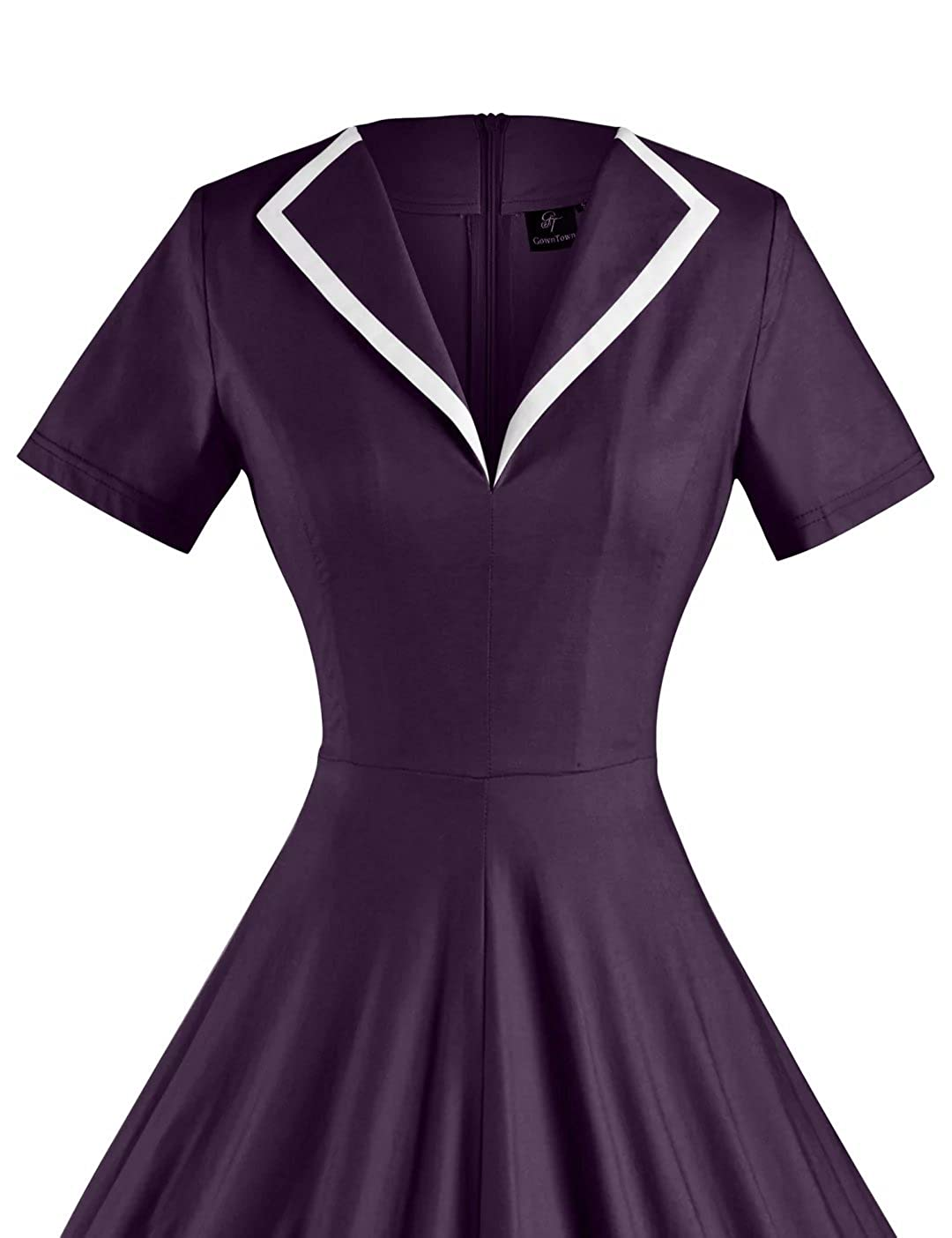 5ab555826f0b GownTown Women's 1950s Retro Vintage V-Neck Party Swing Dress at Amazon  Women's Clothing store: