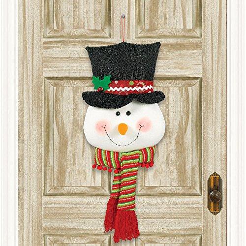 - Shindigz Snowman Head Plush Door Hanger Christmas Decoration