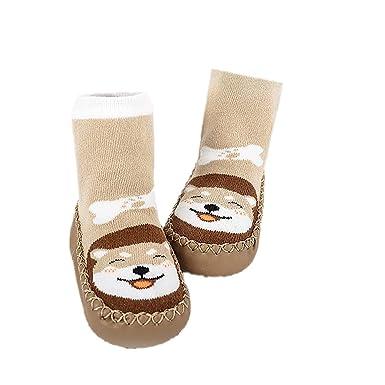 Lindo Calcetines de Bebé Niños, DOTBUY 1 pares Unisexo Cálido Grueso Niñas Calcetines Cómodo Suave
