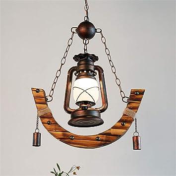 RUXMY Bambú Linterna Vintage País Queroseno Lámpara Antigua ...